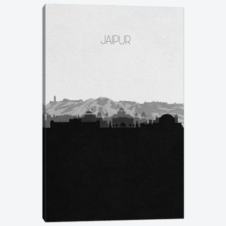 Jaipur, India City Skyline Canvas Print #ADA337} by Ayse Deniz Akerman Canvas Wall Art