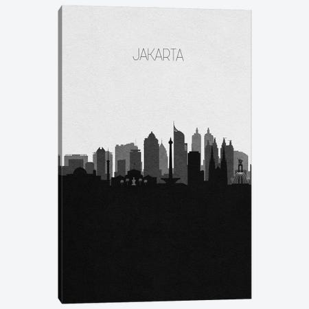 Jakarta, Indonesia City Skyline Canvas Print #ADA338} by Ayse Deniz Akerman Art Print