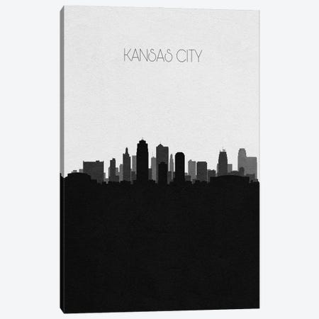 Kansas City, Missouri City Skyline Canvas Print #ADA345} by Ayse Deniz Akerman Canvas Art Print