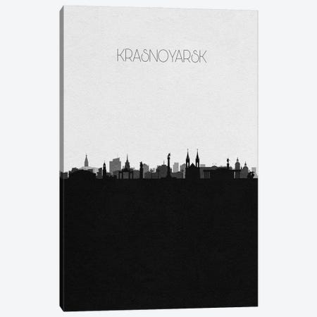 Krasnoyarsk, Russia City Skyline Canvas Print #ADA347} by Ayse Deniz Akerman Canvas Art Print