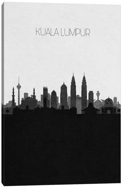 Kuala Lumpur, Malaysia City Skyline Canvas Art Print