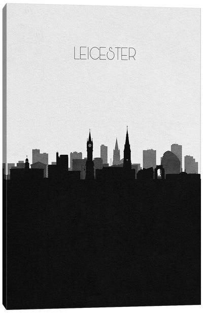Leicester, England City Skyline Canvas Art Print