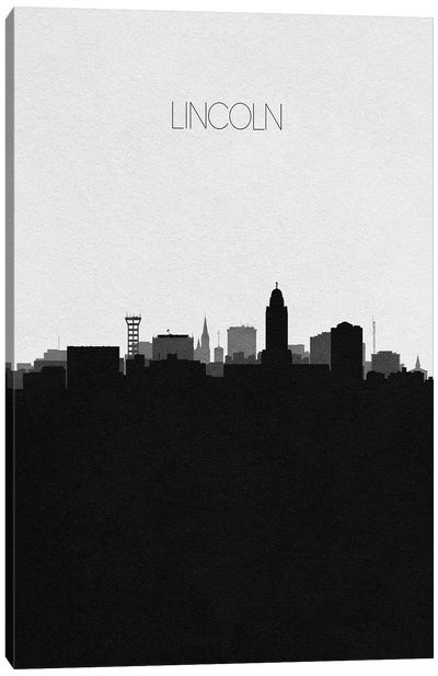 Lincoln, Nebraska City Skyline Canvas Art Print