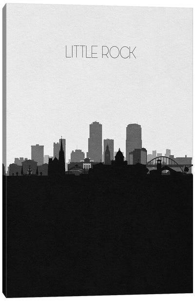 Little Rock, Arkansas City Skyline Canvas Art Print