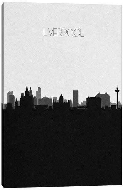 Liverpool, United Kingdom City Skyline Canvas Art Print