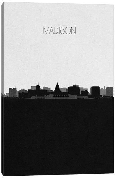 Madison, Wisconsin City Skyline Canvas Art Print