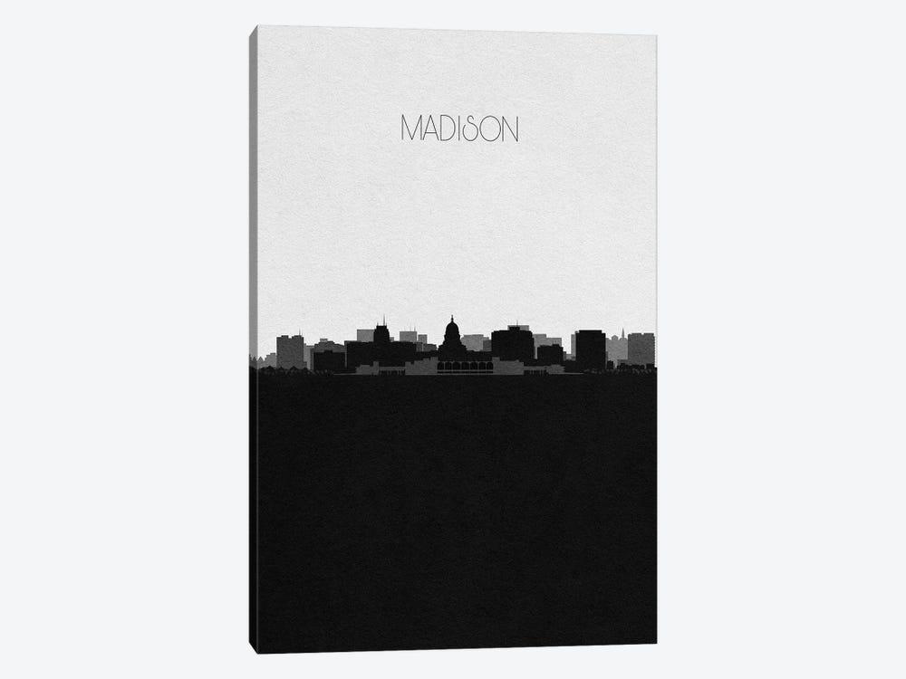 Madison, Wisconsin City Skyline by Ayse Deniz Akerman 1-piece Canvas Art Print