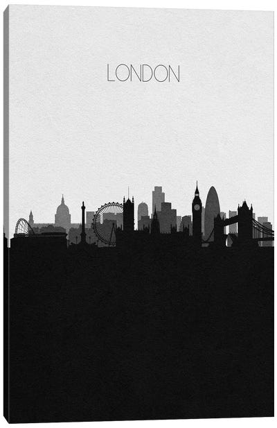 London, Uk City Skyline Canvas Art Print