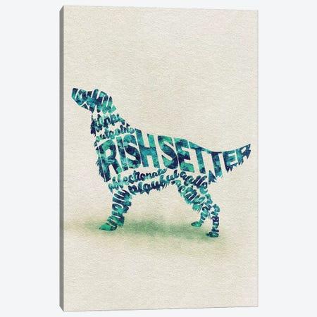 Irish Setter Canvas Print #ADA35} by Ayse Deniz Akerman Art Print