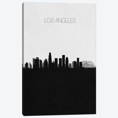 Los Angeles, California City Skyline Canvas Print #ADA360} by Ayse Deniz Akerman Canvas Wall Art