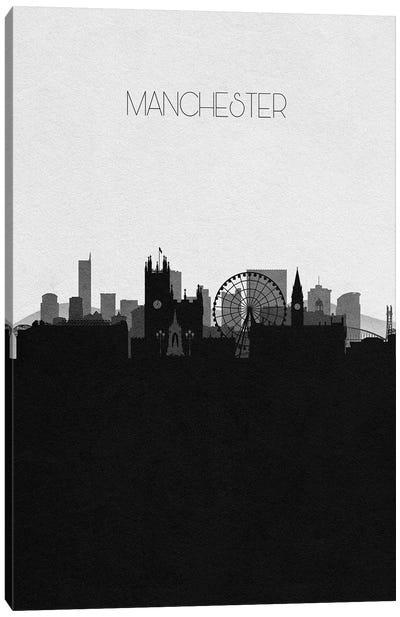 Manchester, Uk City Skyline Canvas Art Print