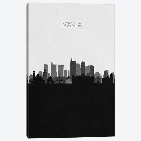 Manila, Philippines City Skyline Canvas Print #ADA363} by Ayse Deniz Akerman Canvas Wall Art
