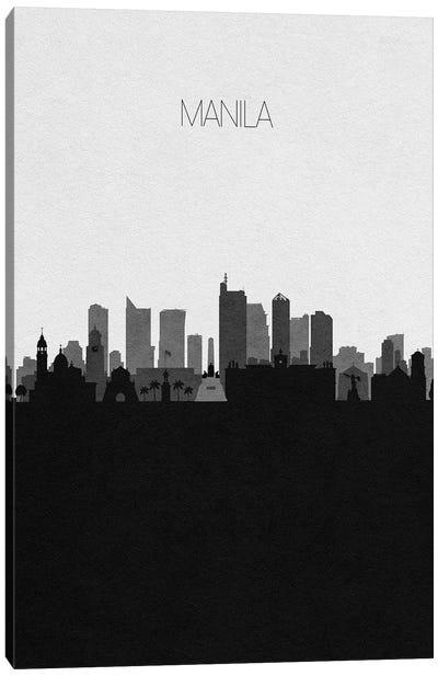 Manila, Philippines City Skyline Canvas Art Print