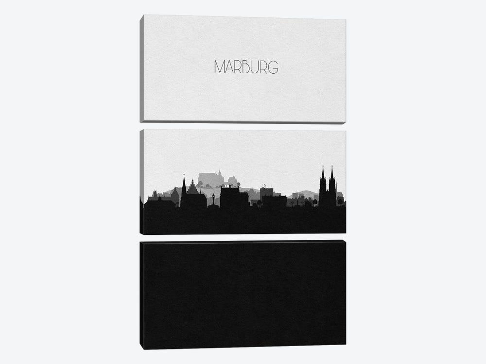 Marburg, Germany City Skyline by Ayse Deniz Akerman 3-piece Canvas Art Print
