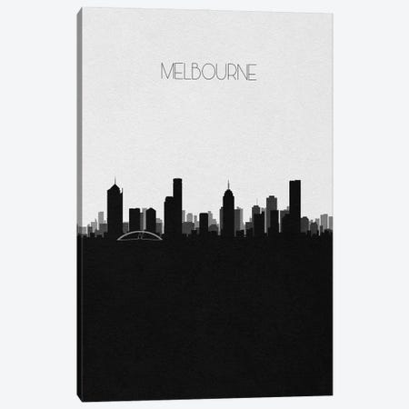Melbourne, Australia City Skyline Canvas Print #ADA365} by Ayse Deniz Akerman Canvas Art Print