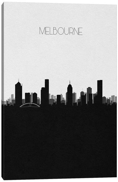 Melbourne, Australia City Skyline Canvas Art Print