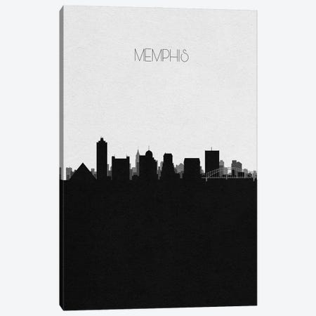 Memphis, Tennessee City Skyline Canvas Print #ADA366} by Ayse Deniz Akerman Canvas Print