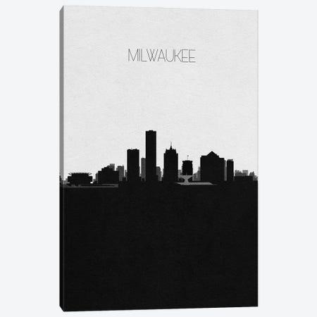 Milwaukee, Wisconsin City Skyline Canvas Print #ADA368} by Ayse Deniz Akerman Canvas Artwork