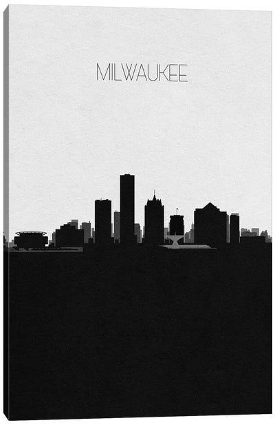Milwaukee, Wisconsin City Skyline Canvas Art Print