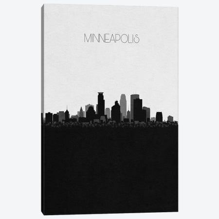 Minneapolis, Minnesota City Skyline Canvas Print #ADA369} by Ayse Deniz Akerman Canvas Wall Art