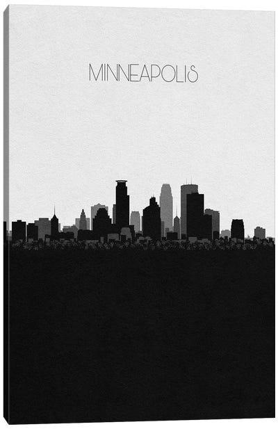 Minneapolis, Minnesota City Skyline Canvas Art Print