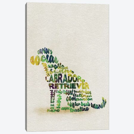 Labrador Retriever Canvas Print #ADA36} by Ayse Deniz Akerman Canvas Print