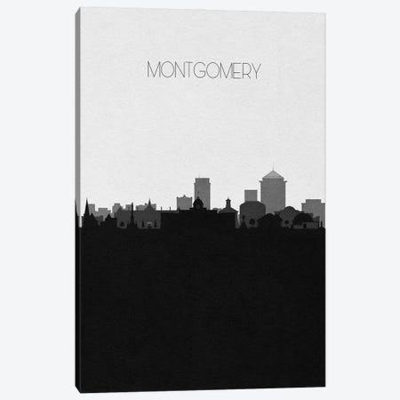 Montgomery, Alabama City Skyline Canvas Print #ADA370} by Ayse Deniz Akerman Canvas Print