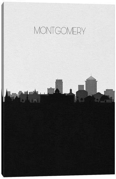 Montgomery, Alabama City Skyline Canvas Art Print