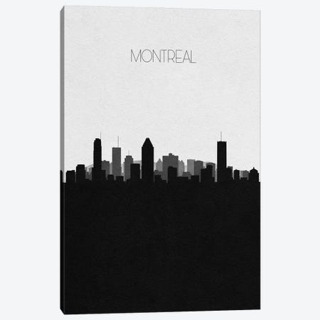Montreal, Canada City Skyline Canvas Print #ADA371} by Ayse Deniz Akerman Art Print
