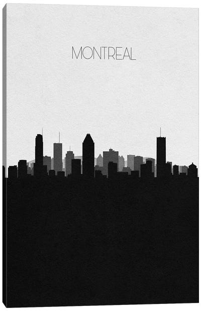 Montreal, Canada City Skyline Canvas Art Print