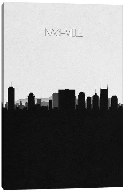 Nashville, Tennessee City Skyline Canvas Art Print