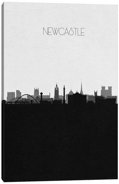 Newcastle, England City Skyline Canvas Art Print