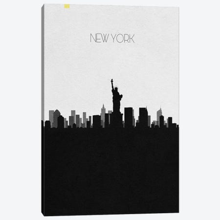 New York, Ny City Skyline 3-Piece Canvas #ADA378} by Ayse Deniz Akerman Canvas Art Print