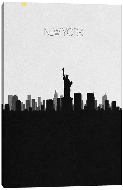 New York, Ny City Skyline Canvas Art Print