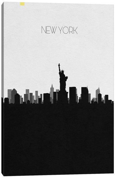 New York, Ny City Skyline Canvas Art Print