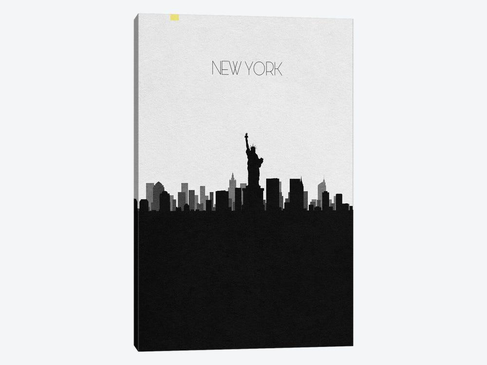 New York, Ny City Skyline by Ayse Deniz Akerman 1-piece Canvas Artwork