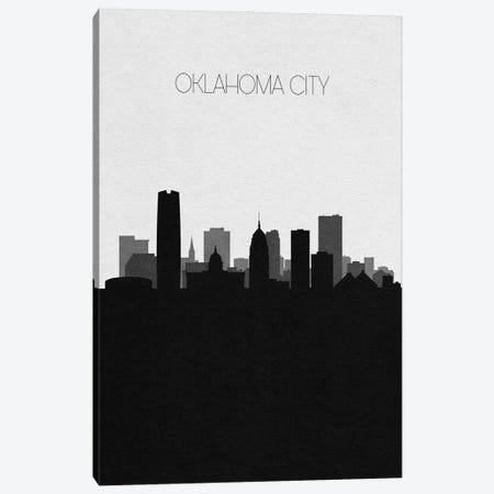 Oklahoma City, Oklahoma Skyline Canvas Print #ADA380} by Ayse Deniz Akerman Canvas Wall Art