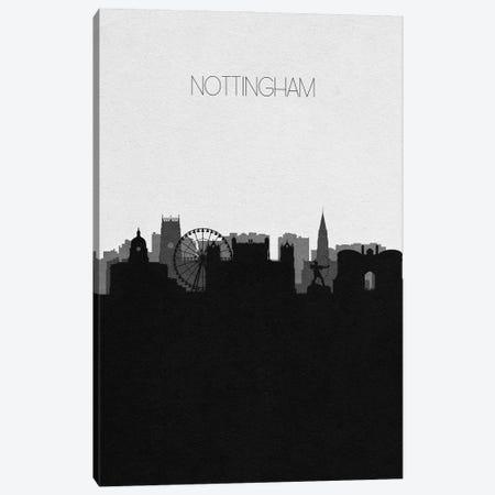 Nottingham, United Kingdom City Skyline Canvas Print #ADA381} by Ayse Deniz Akerman Canvas Artwork