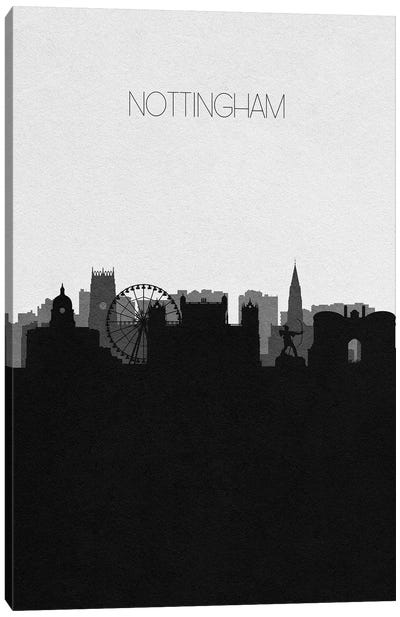 Nottingham, United Kingdom City Skyline Canvas Art Print