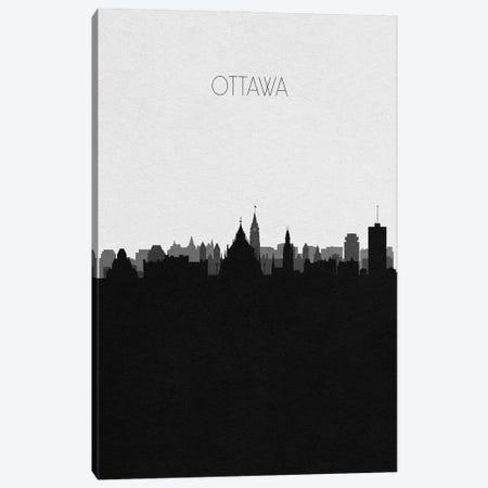 Ottawa, Canada City Skyline Canvas Print #ADA384} by Ayse Deniz Akerman Canvas Print