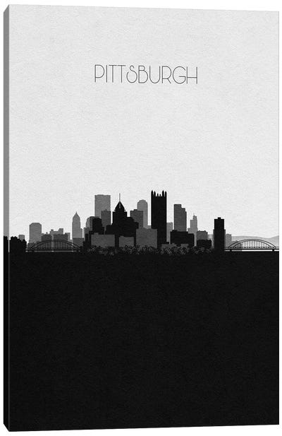 Pittsburgh, Pennsylvania City Skyline Canvas Art Print