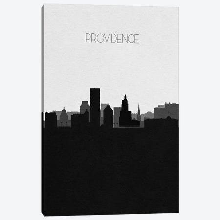 Providence, Rhode Island City Skyline Canvas Print #ADA393} by Ayse Deniz Akerman Canvas Print