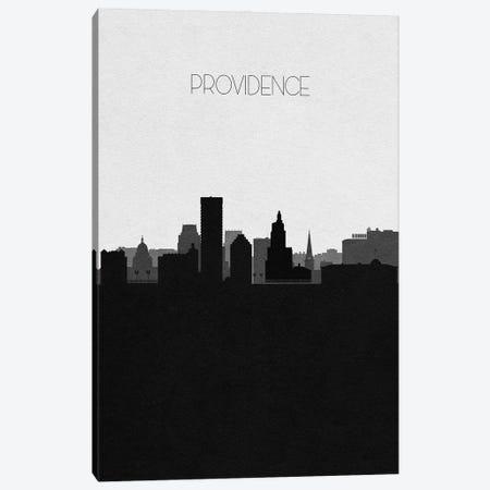 Providence, Rhode Island City Skyline Canvas Print #ADA393} by Ayse Deniz Akerman Canvas Print