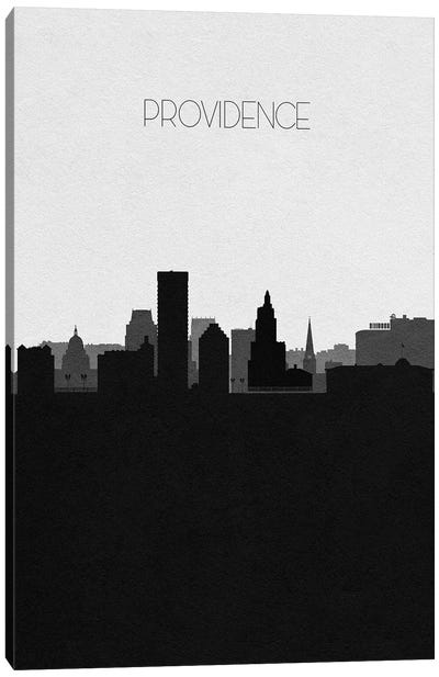 Providence, Rhode Island City Skyline Canvas Art Print