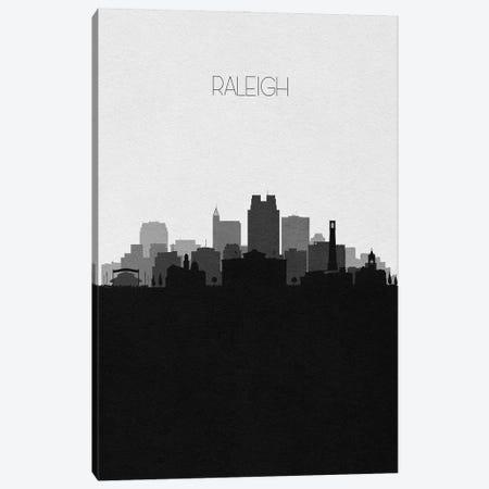 Raleigh, North Carolina City Skyline Canvas Print #ADA395} by Ayse Deniz Akerman Canvas Wall Art