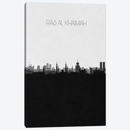 Ras Al Khaimah, Uae City Skyline Canvas Print #ADA396} by Ayse Deniz Akerman Canvas Artwork