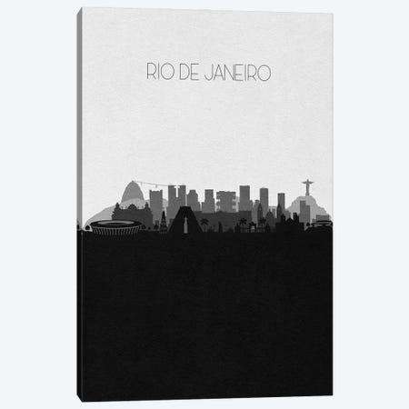 Rio, Brazil City Skyline Canvas Print #ADA398} by Ayse Deniz Akerman Canvas Art Print
