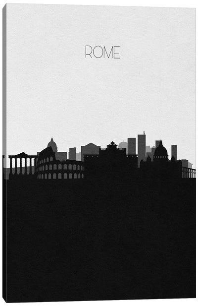 Rome, Italy City Skyline Canvas Art Print