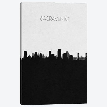 Sacramento, California City Skyline Canvas Print #ADA401} by Ayse Deniz Akerman Canvas Print