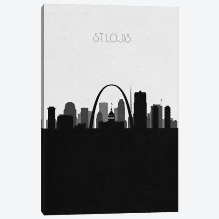 St. Louis, Missouri City Skyline Canvas Print #ADA402} by Ayse Deniz Akerman Art Print